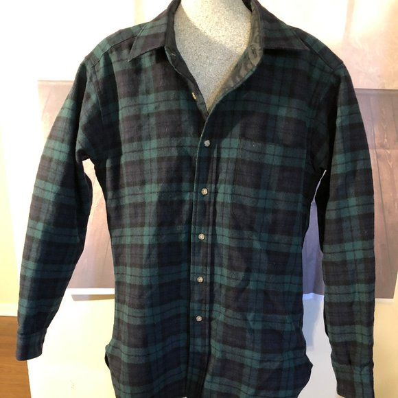 Pendleton Other - Pendleton Vtg Watch  Plaid Wool Flannel  sz M USA